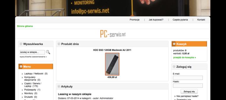 SKLEP INTERNETOWY – sklep.pc-serwis.net